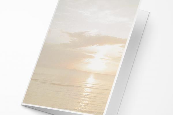 Rouwkaart Nova Memoria - Ondergaande Zon