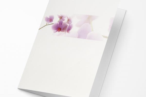 Rouwkaart Nova Memoria - Orchidee in Balk
