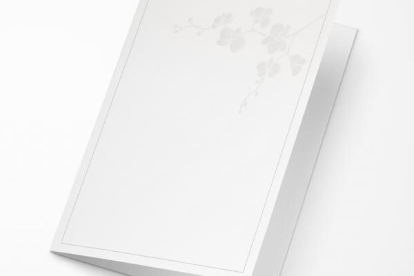 Rouwkaart Nova Memoria - Orchidee Parelmoer
