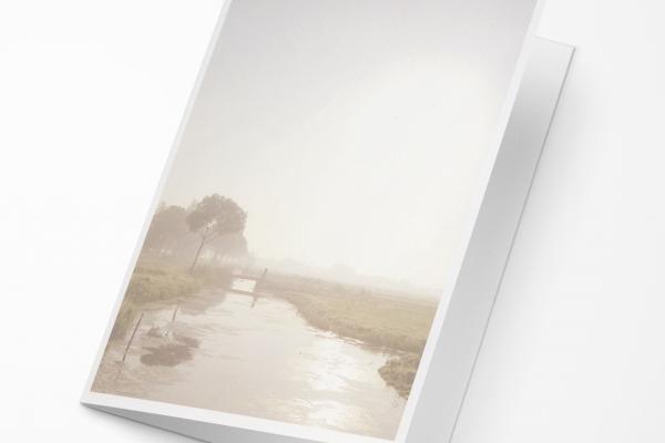 Rouwkaart Nova Memoria - Polderlandschap