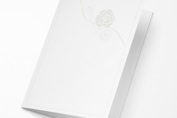 Rouwkaart Nova Memoria - Roos Parelmoer