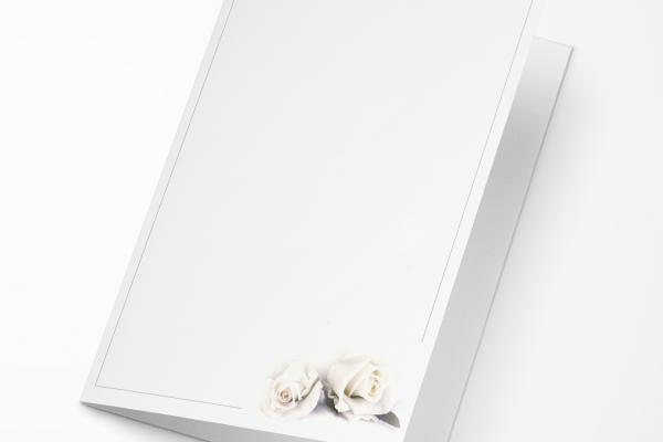 Rouwkaart Nova Memoria - 2 rozen lila