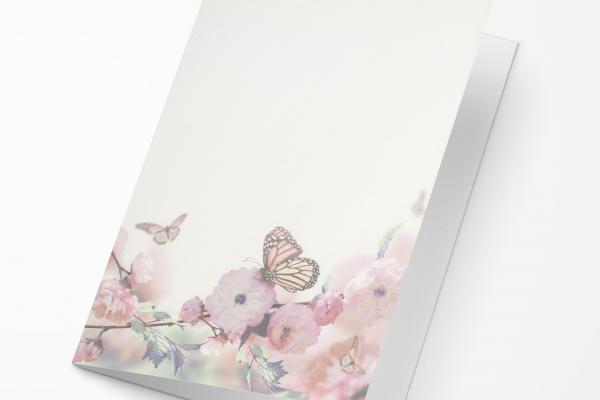 Rouwkaart Amco - Vlinder Roze