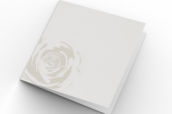 Rouwkaart Nova Memoria - Witte Roos Folie